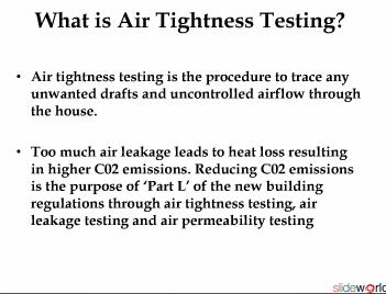 Air Tightness Testing