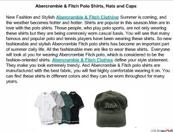 Abercrombie  Fitch Polo Shirts, Hats and Caps
