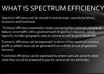 spectrum efficiency