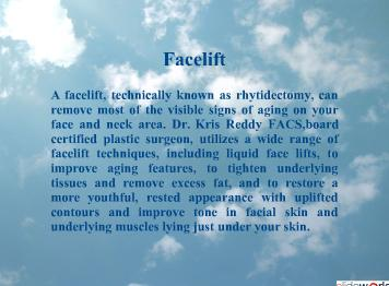 Dr Kris Reddy Reviews Facelift And Necklift