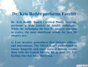 Dr. Kris Reddy Reviews Facelift Trends