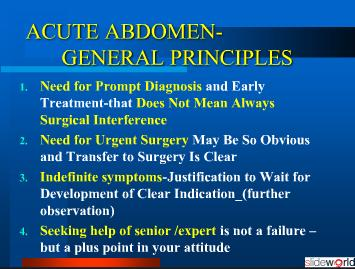 ACUTE ABDOMEN _ASSESSMENT  MANAGEMENT 