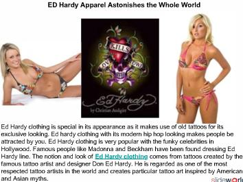 ED Hardy Apparel Astonishes the Whole World 