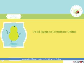Food Hygiene Certificate Online