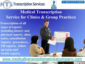 Affordable Medical Transcription Company