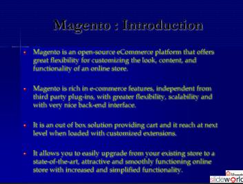Magento application Development