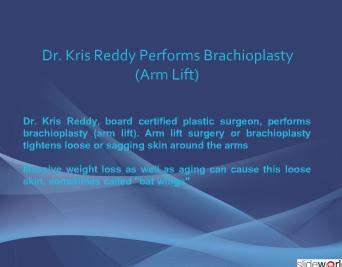 Dr Kris Reddy reviews Armlift (brachioplasty)