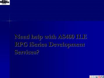 AS400 ILE RPG iSeries Development Services