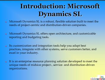 Dynamics SL development
