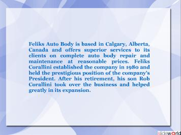 Feliks Auto Body Ltd., Calgary