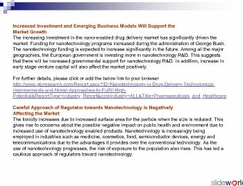 Nanotechnology in Drug Delivery – Technological Improvements and Novel Approaches to Fulfill High Potential