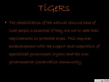`save tigers