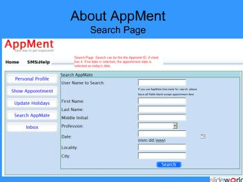 AppMent - Appointment Managing Application
