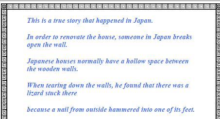 A popular story from Japan
