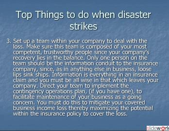  Steve Slepcevic - Top 10 things to do when Disaster Strikes