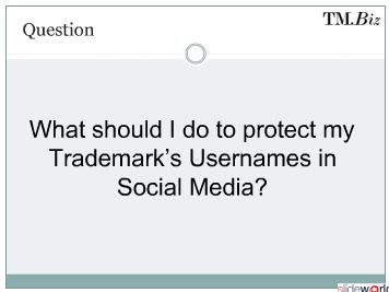 Protecting Trademarks on  Social Media