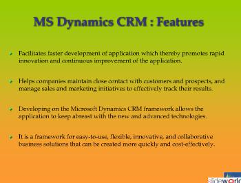 MS Dynamics CRM development
