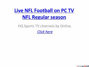 Watch San Francisco Vs Green Bay live NFL Football on 05-12-2010.