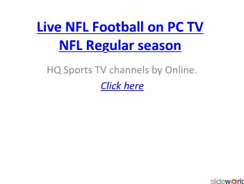 Watch Denver vs Kansas City live NFL on 5-12-2010.