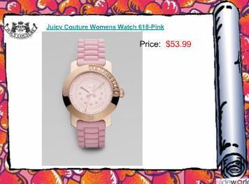 Discount Juicy Couture Womens Watch For Christmas