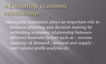 importance of managerial economics