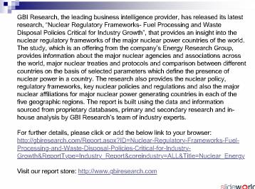 Nuclear Regulatory Frameworks- Fuel Processing and Waste Disposal Policies Critical for Industry Growth