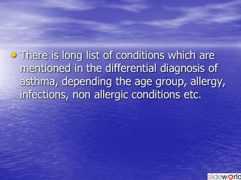 ASTHMA SYNDROMES