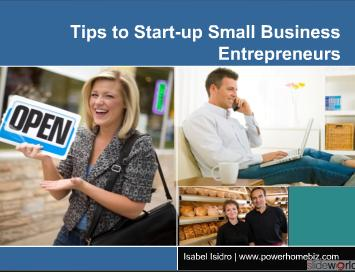 How to Start a Successful Small Business Tips to Startup Entrepreneurs