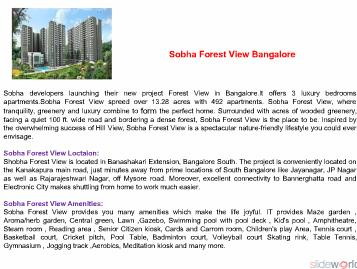 Sobha Forest View  9999998663