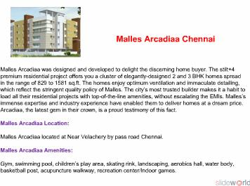 Malles Arcadiaa Call 9999998663