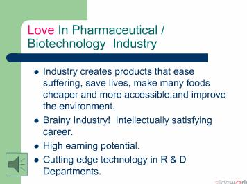 PHARMACEUTICAL AND BIOTECHNOLOGY INDUSTRIES