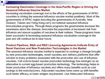 Seasonal Influenza Vaccine Market in Asia