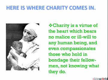 CHARITY CAMPAIGNS A NECESSARY EVIL