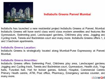 INDIABULLS GREENS PANVEL - Indiabulls Greens Panvel