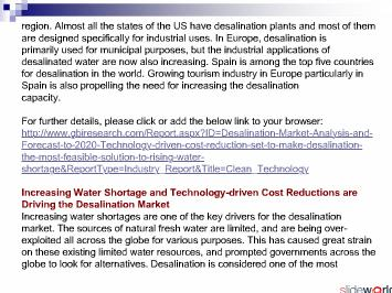 Desalination Market to 2020