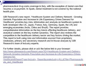 Healthcare System and Delivery Network 