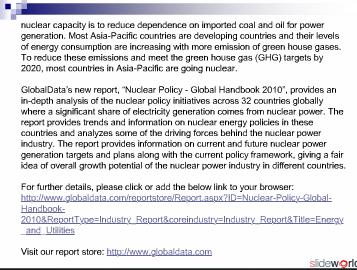 Nuclear Policy - Global Handbook 2010