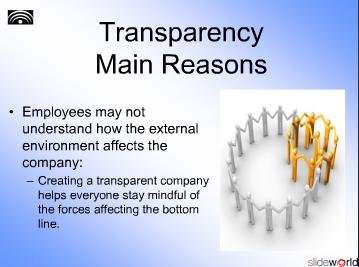 Transparency Inside the Company