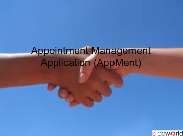 Appointment Managing and Scheduling Application - Appment
