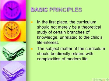 CURRICULUM CONSTRUCTION PRINCIPLES