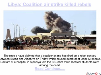 Coalition air strike killed civilians in Libya