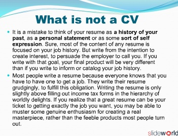 CV Writing  Interview Skills