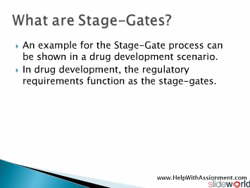 Understanding Stage-Gate-Model at HelpWithAssignment.com