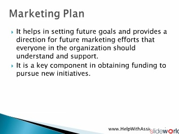 Tips for Writing a Good Marketing Plan From HelpWithAssignment.com