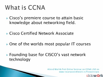 Introduction to CCNA basic in networking by Recurssion InfotcH