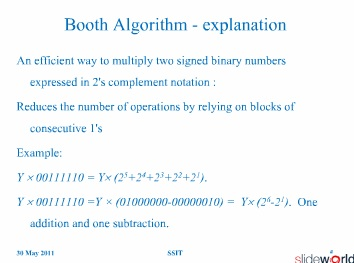 High Performance Complex Multiplier Using Modified Booth Algorithjm