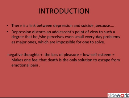 The association between depression and suicide in adolescence