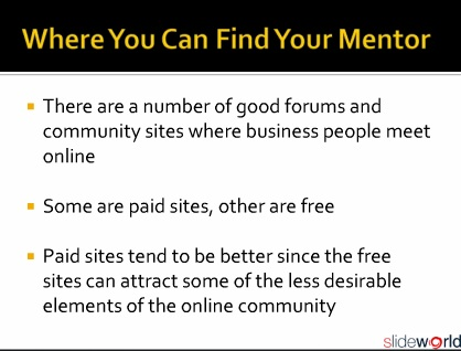 Find Your Internet Business Mentor