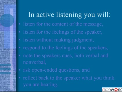 effective listening