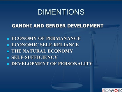 GANDHI AND GENDER DEVELOPMENT